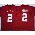 Alabama Crimson Tide #2 HENRY Red Nike College Football Jersey