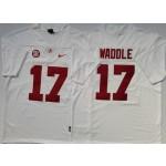 Alabama Crimson Tide #17 Jaylen Waddle White Nike College Football Jersey