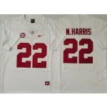 Alabama Crimson Tide #22 Najee Harris White Nike College Football Jersey