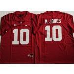 NCAA Alabama Crimson Tide #10 M.JONES Red 2021 jersey