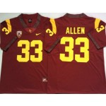 USC Trojans #33 Marcus Allen Red College Football Jersey