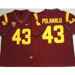 USC Trojans #43 Troy Polamalu Red College Football Jersey