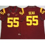 USC Trojans #55 Junior Seau Red College Football Jersey
