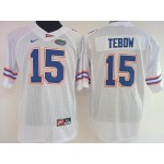 Women Florida Gators WHITE #15 Tebow jersey