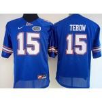 Women Florida Gators blue #15 Tebow jersey