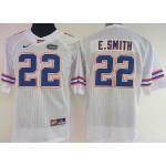 Women Florida Gators E.Smith #22 white jersey