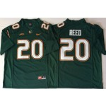 Miami Hurricanes Green #20 REED