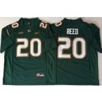 Miami Hurricanes Green #20 REED