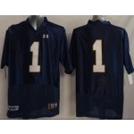 Norte Dame Fighting Irish blue-white #1 jersey
