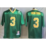 Norte Dame Fighting Irish green #3 jersey
