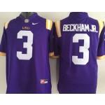 LSU Tigers Purple #3 Beckham Jr