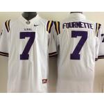 LSU Tigers white #7 Fournette