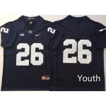 Youth Penn State Nittany Lions Blue #26 BARKLEY