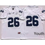 Youth Penn State Nittany Lions White #26 BARKLEY