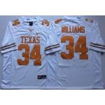 Texas Longhorns White #34 WILLIAMS