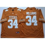 Texas Longhorns YELLOW #34 WILLIAMS