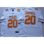 Texas Longhorns White #20 CAMPBELL