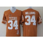 Youth Texas Longhorns YELLOW #34 Williams jersey