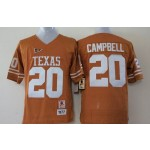 Youth Texas Longhorns YELLOW #20 Campbell jersey
