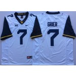 West Virginia Mountaineers White #7 GRIER