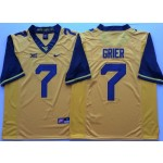 West Virginia Mountaineers YELLOW #7 GRIER