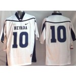 Nevada Wolf Pack white #10 jersey
