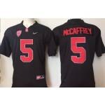 Youth Stanford Cardinals Black #5 McCaffrey jersey