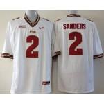 Florida State Seminoles  Sanders #2 white jersey