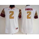 Womens Florida State Seminoles White #2 Sanders jersey