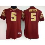 Womens Florida State Seminoles Red #5 Winston jersey