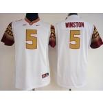 Womens Florida State Seminoles White #5 Winston jersey