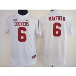 Women Oklahoma Sooners white #6 Mayfield jersey
