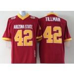 Arizona State Tillman #42 red jersey