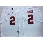 Alabama Crimson Tide White #2 HURTS
