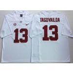 Alabama Crimson Tide White #13 TAGOVAILOA