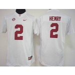Womens Alabama Crimson Tide White #2 Henry jersey