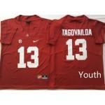 Youth Alabama Crimson Tide Red #13 TAGOVAILOA