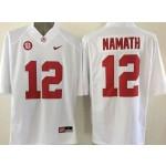 Youth Alabama Crimson Tide White #12 Namath jersey
