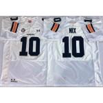 Auburn Tigers White #10 NIX