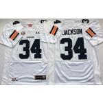 Auburn Tigers White #34 JACKSON