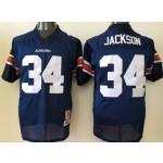 Auburn Tigers Blue #34 Jackson jersey