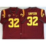 USC Trojans Red #32 SIMPSON