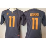 Tennessee Volunteers GRAY #11 Dobbs jersey