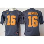 Tennessee Volunteers Manning #16 Gray  jersey