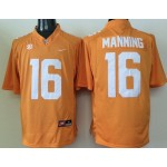 Tennessee Volunteers Manning #16 orange jersey