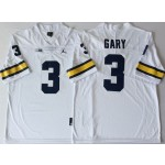 Michigan Wolverines White #3 GARY