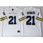 Michigan Wolverines White #21 HOWARD