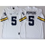 Michigan Wolverines White #5 PEPPERS