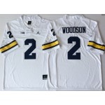 Michigan Wolverines White #2 WOODSON