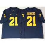 Michigan Wolverines Blue #21 HOWARD